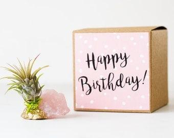 Best Friend Birthday Gift, Unique Birthday Gift, Gold Dipped Rose Quartz Crystal, Mom Birthday, Sister Birthday, Girlfriend Birthday Gift