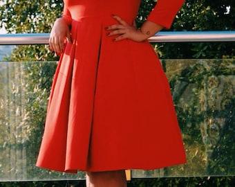Gamer Skater Dress   Autumn Dress   Folded Skirt Dress