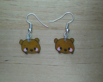 Mini earrings Winnie the Pooh kawaii