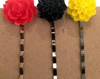 Flower Bobby Pins/Hair Pins