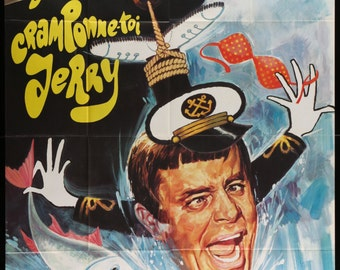 """Hook, Line, and Sinker (1969) French """"Grande"""" Movie Poster - Jerry Lewis Comedy - FREE U.S. SHIPPING"""
