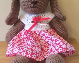Crochet Bunny in Dress