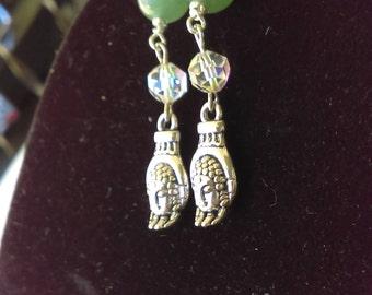Buddha head and hands earrings
