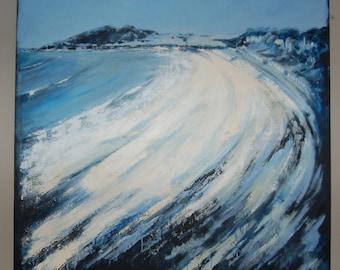 """Langland  Beach 36""""x36"""""""