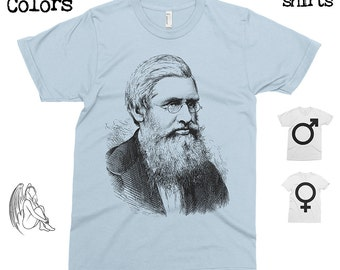 Alfred Wallace T-shirt, Tee, American Apparel, Evolution, Charles Darwin, Science, Natural Selection, Creationism, Design, Cute Gift