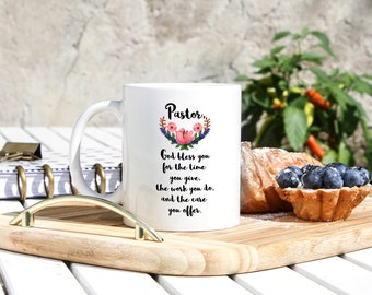 Pastor Coffee Mug - Pastor Gifts - Pastor Appreciation - Gift for Priest - Birthday Gift for Deacon - Pastoral Anniversary - Reverend Gift