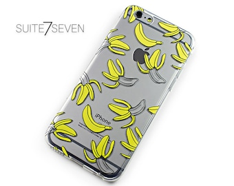Clear Cases, Rubber Cases, Transparent Cases, iPhone 6 Case, iPhone 7 Case, iPhone 7 Plus, Galaxy Cases, Galaxy S7, Bananas, Funny Case