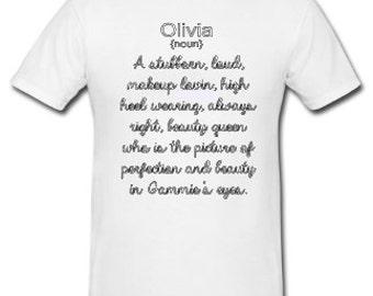 Custom Made Definition Shirts, You Design, I print.