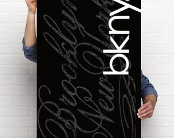 Brooklyn Graffiti/Modern Art, BKNY, Concrete Republic,poster,print,Urban,Modern,size 18 × 24, 24 × 36 inches,graphic arts