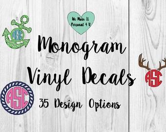 Vinyl Monogram Decals