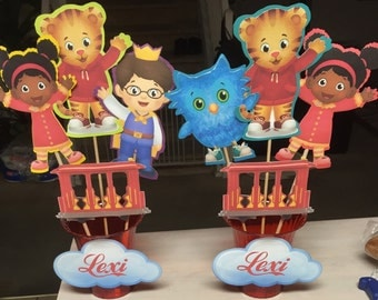 Daniel Tiger Centerpiece Die cuts