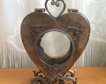 SALE! Victorian Heart Shaped Candle Holder