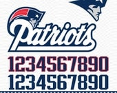 New England Patriots Football Logo - SVG, dxf, eps, PDF - Digital cut files for Silhouette Studio, Cricut Design Space Cutting Machine SVG73