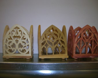 Gothic Arched Candle Holders