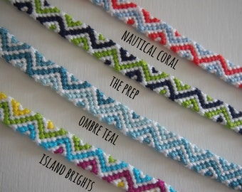 Customizable Zig-Zag Friendship Bracelet
