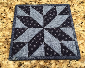 Quilted Potholder, hot pad, trivet, Quiltsy handmade