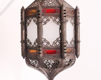 Authentic Bohemian Kenitra Hanging Moroccan Lantern from Marrakech