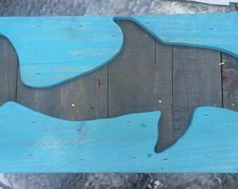 Dolphin cutout wall decor