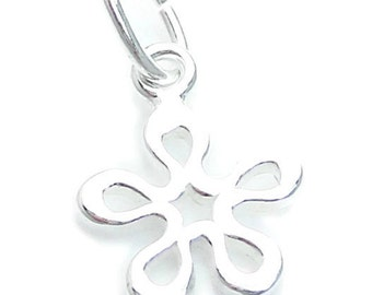 Sterling Silver Flower Charm, Flower Charm, Small Flower Charm, Charms, Alexia Silver