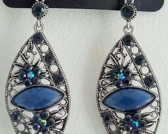 Ocean Blue Drop Earings