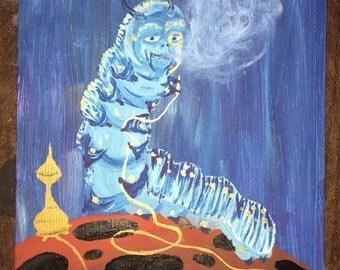 Absolem Alice in Wonderland Catepillar Painting