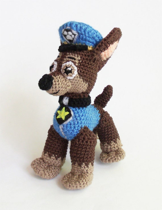 Knitting Pattern Paw Patrol : Kids Christmas gift Chase Paw Patrol Crochet Puppy Amigurumi