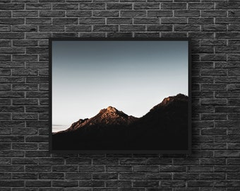 Mountain Silhouette - Mountains Photography - Landscape Photo - Mountain Landscape - Mountains Photo - Mountain Wall Art - Nature Wall Decor