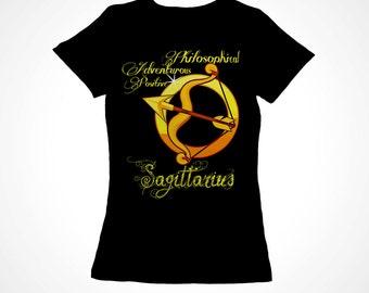 Sagittarius Girls Zodiac Astrology Tee