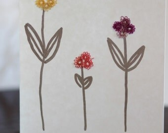 3 Flowers Set of 4 greeting cards