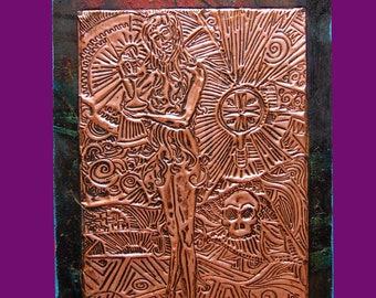 Copper engraving Mary Magdalene