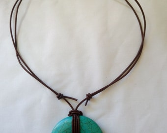 Turquoise Donut Necklace