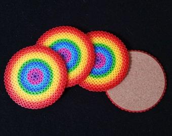 Rainbow Pearler Coaster Set of 4