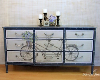 Dresser 9-Drawer, Bicycle theme
