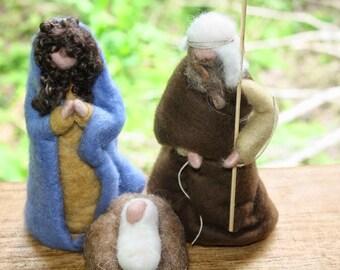 Waldorf Inspired Needle Felted Nativity Set
