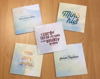 Christian Love Cards Pack of 5 Free Delivery
