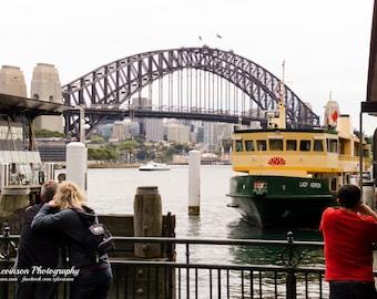 Sydney Harbour Bridge and Ferry - original photograph, digital download, street photo
