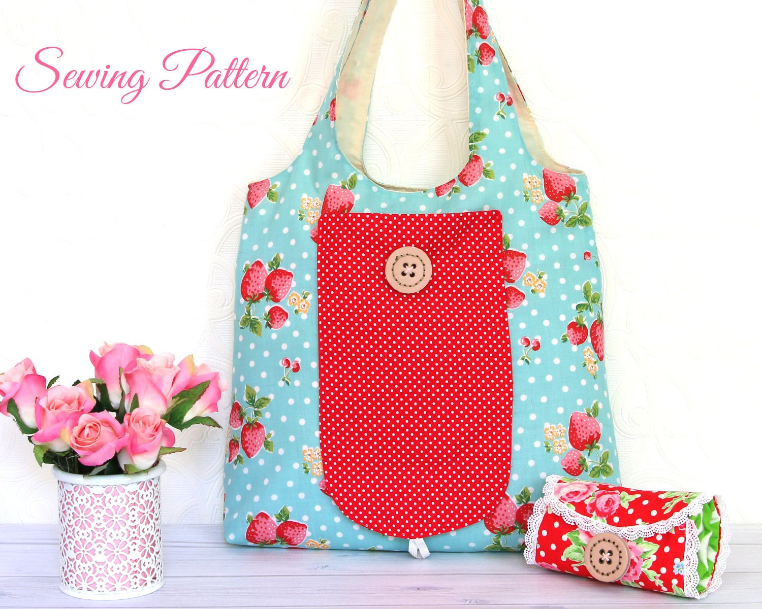 Grocery bag pattern tote bag pattern sewing pattern pdf bag this is a digital file jeuxipadfo Gallery