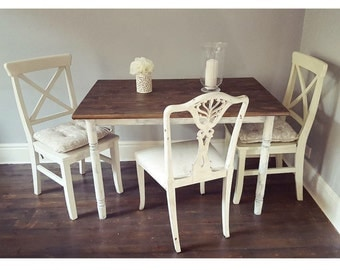 Shabby chic farmhouse dining table