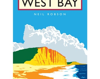 West Bay Illustration - 40 x 30cm Art Print