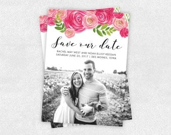 FLORAL | Personalized Printable Save the Date