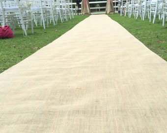Burlap & Lace Aisle Runner Custom Made