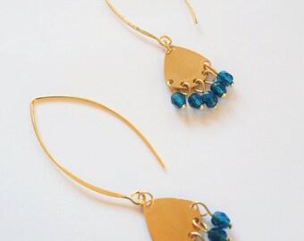 Chandelier bleu