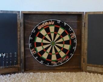 Dartboard Cabinet/ Modern Dartboard Cabinet/ Wall Mounted Cabinet/ Wood Cabinet/ Custom Dart Board Cabinet/ Gift for him