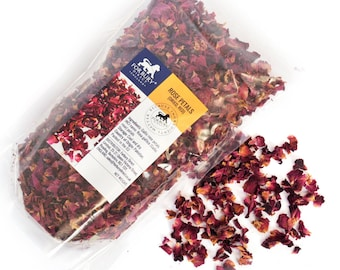 35g - 950g of Rose Petals Red, Natural Red, Dried, Bath Bombs, Candles, Potpourri, Decoration