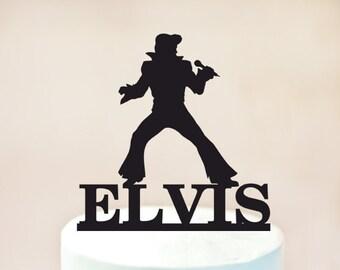 Elvis Cake topper,elvis birthday Cake topper,rock n roll party,Birthday cake topper,Birthday cake decoration,personalized cake topper 1043