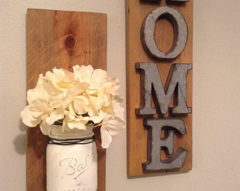 Home Sign With Flowers