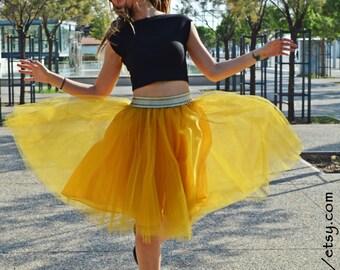 Mustard Woman Tutu, Adult Tulle Skirt, Women Tutu, Gold Skirt, Engagment Tulle Skirt, Bridemaid Skirt, Flowergirl Skirt, Bachelorrete Party