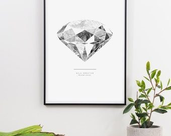 Diamond in the Rough Graphic Print