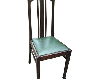 Chair, Chair, Art Nouveau, carved shells, restored