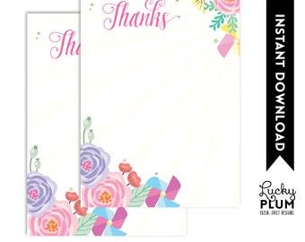 Sunshine Thank You Card / Pinwheel Thank You Card / Flower Thank You Card / You Are My Sunshine Thank You Card